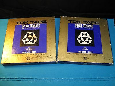 2x TDK Super Dynamic 1800-SD 7in 1800 ft Reel to Reel R2R Tapes - Used