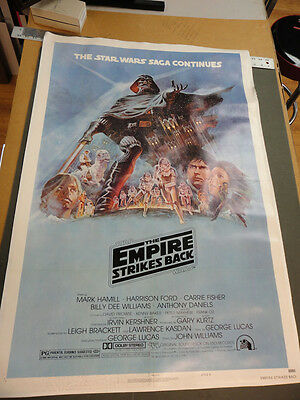 """"""" The Empire Strikes Back"""" / Original Movie Poster, Style B, LINEN BACKED"""
