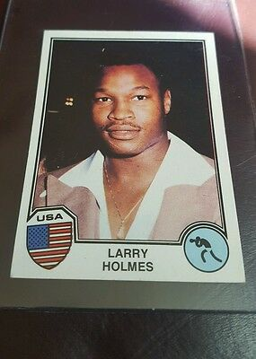 Larry Holmes Rookie Panini Sport Superstars 1982  Boxing Card Rare