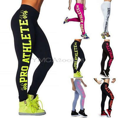 New Womens YOGA Workout Gym Print Sports Pants Leggings Fitness Stretch Trousers