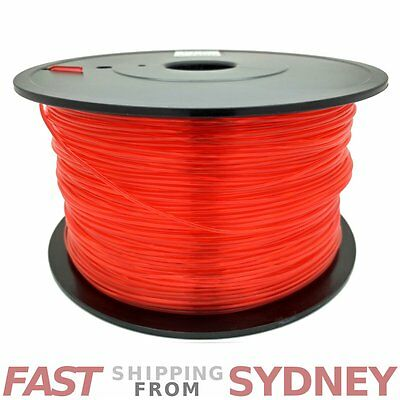 3D Printer Filament PLA 1.75mm Transparent Red 1kg Roll, FAST shipping SYDNEY