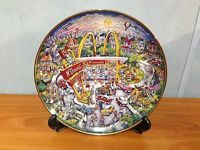 McDonalds Limited Edition Franklin Mint Collectors Plate - Golden Moments
