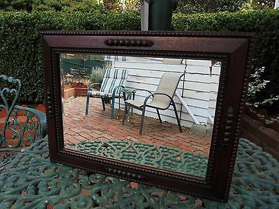 AUSTRALIAN WOOD FRAME ART DECO WALL MIRROR CALIFORNIA BUNGALOW STYLE c1930