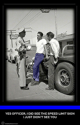Traffic Stop with Teen Agers and a Hot Rod Two 11x17 Posters