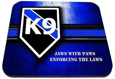 Thin Blue Line K9 Jaws with Paws Mouse Pad