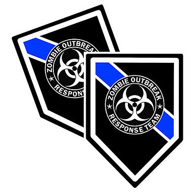 Thin Blue Line Zombie Outbreak Response Team Decals Pack Of Two