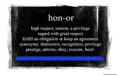 Definition of Honor Two 11x17 Posters