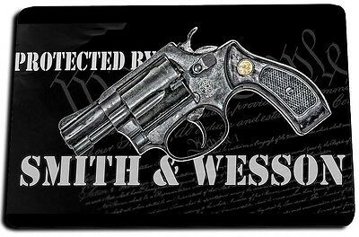 We The People 2nd Amendment Protected by Smith & Wesson  Door Mat Rug