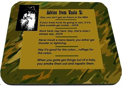 Advice From Uncle Si Mouse Pad