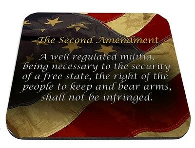 Second Amendment Distressed Flag Mouse Pad