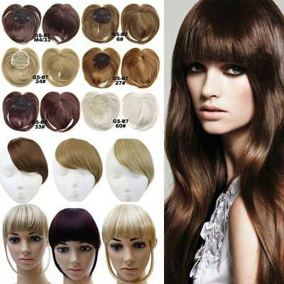 100% Real Clips on Bangs Fring Straight Hair Piece Clip in Hair Extensions ye16