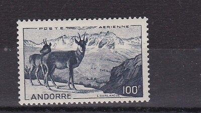 French Andorra 1950  S G F143  100F Indgo  Cat £140   Mnh No2