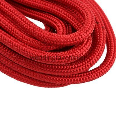 Red Polyester Aerial Rock Climbing Rappelling Static Auxiliary Rope Cord 50M