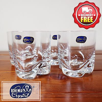 Bohemia Crystal Bar-Trio Old Fashion Tumbler 280ml | 4pcs Whiskey Glasses