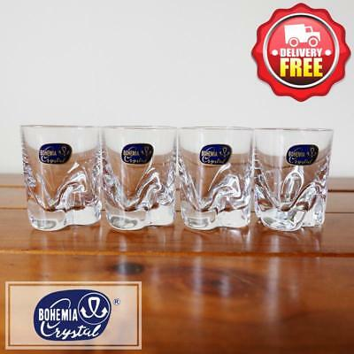 Bohemia Crystal Bar-Trio Shot Glasses 60ml | Set of 4pcs
