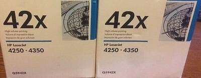 MOSTLY NEW Genuine HP 42X Laser Cartridge 82% Toner Remaining Printer-Tested !