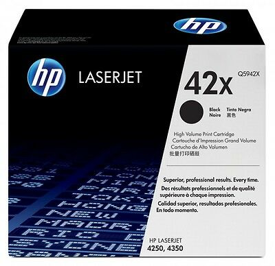 MOSTLY NEW Genuine HP 42X Laser Cartridge 81% Toner Remaining Printer-Tested !