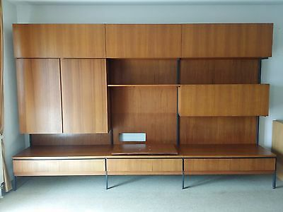 60er omnia teak regal regalsystem regalwand eur 1 00 for Wohnwand 60er