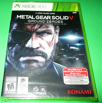 Metal Gear Solid V: Ground Zeroes Xbox 360 *Factory Sealed! *Free Shipping!