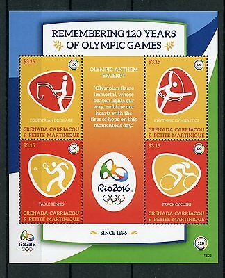 Grenadines Grenada 2016 MNH Olympic Games Rio 2016 4v M/S Olympics Stamps