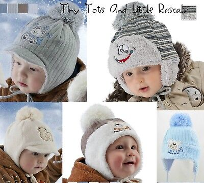 Baby Boy Infant Toddler Warm Acrylic Winter Hat Xmas Santa Gift 0 - 4 years