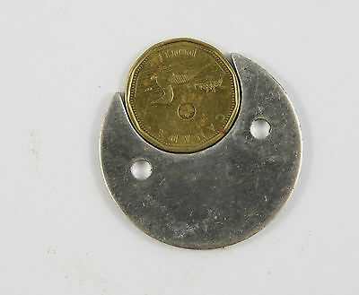 Coin Disc Loonie 1 Dollar Seaga Style Mechanical Vending Machine Parts