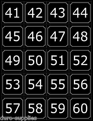 (4-60) Numbers For Dexter, Wascomat, Speed Queen, Huebsch, ADC Washers & Dryers
