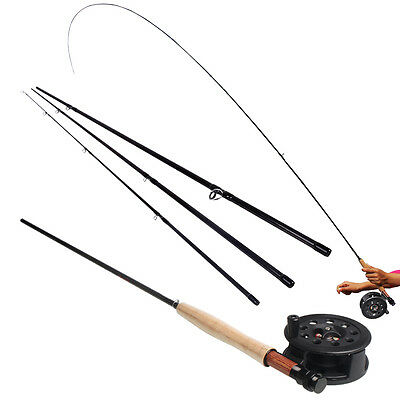 Fly Fishing Rod with Reel Combos Black 2.7m/8.85ft for Saltwater Freshwater Sets