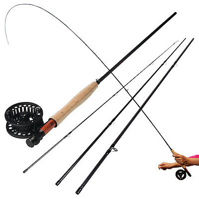 Trout Fly Fishing Rod and Reel Combos 2.7m/8.85ft 4sections 5/6WT Fly Pole Reel