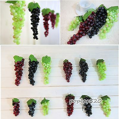Home Furnishings Simulation Grapes 22pcs Artificial Soft Plastic Hotel Decor New