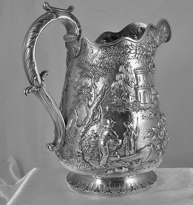 Samuel Kirk Silver Pitcher, Castle Pattern