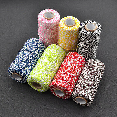 100M Cotton Thread DIY Sewing Bakers Twine Colourful Rope Packaging Supplies