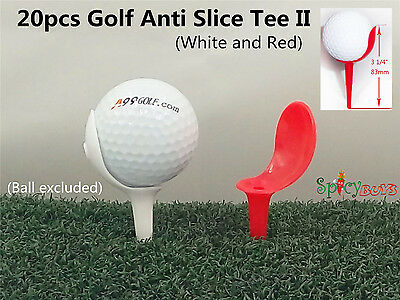 "20pcs/pack Spicybuys Golf Anti-Slice Tee 3 1/4"" (83mm) long"