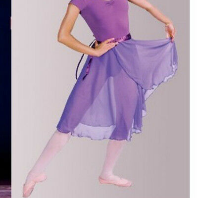 Women Professional Ballet Dance Dress Wrap Skirt Long Chiffon Adult 10 Colors
