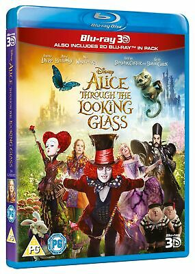 Alice Through the Looking Glass (3D Edition with 2D Edition) [Blu-ray]