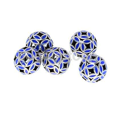 5pcs Blue Cloisonne Fit Charms Bracelet Spacer Beads Jewelry Making 10mm/12mm