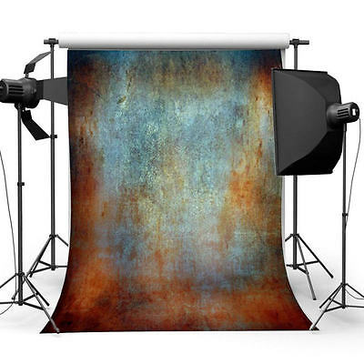 3x5ft Vinyl Retro Rusted Wall Photography Backdrop Photo Studio Background Props