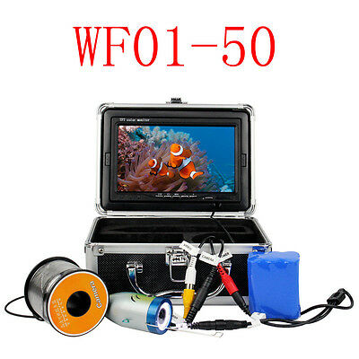 50M 7inch LCD 1000TVL HD Underwater Video Camera Fish Finder Monitor Waterproof