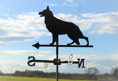 Standard German Shepherd Metal Weathervane (vertical fixing bracket)