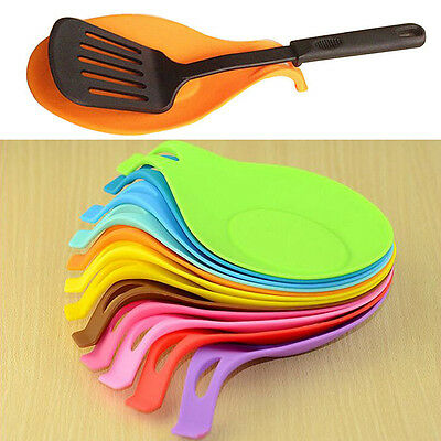 Silicone Heat Resistant Holder Cooking Kitchen Utensils Gadget Tool New 11 Color