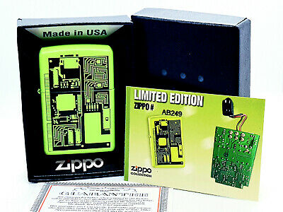 New/Rare ZiPPO Lighter w/ Box; MICROCHIP SCIENCE BABY GREEN MATE Limited edition