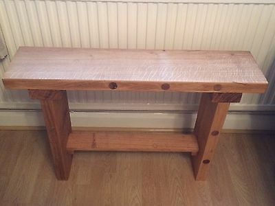 Solid Wood Oak Bench, Table,Seating, Hand Made From Reclaimed Oak
