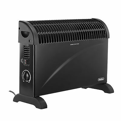 VonHaus 2000W Portable Electric Thermostat Convector Heater - 3 Heat Settings