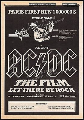 AC/DC The Film: LET THERE BE ROCK__Original 1981 Trade AD / poster__Cannes promo
