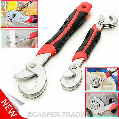 2Pcs Snap'N Grip Wrench Adjustable 9mm & 32mm Multi Function Universal Spanner