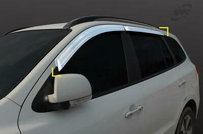 For Hyundai Santa Fe 2007 - 2012 Chrome Wind Deflectors Set (4 pieces)