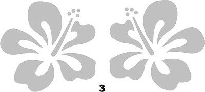 Frosted Hibiscus Flowers x 2 Decals © 2 Sizes - Glass decor mirror art (3)