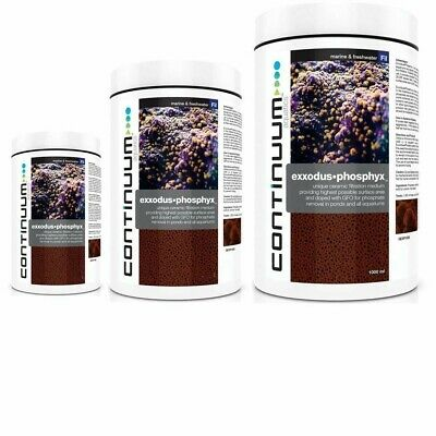 CONTINUUM EXXODUS•PHOSPHYX 1-2 years Phosphate removal in large aquariums