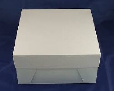 "White Cake Boxes 10x10x6"" Weddings Birthdays ***choose quantity***"