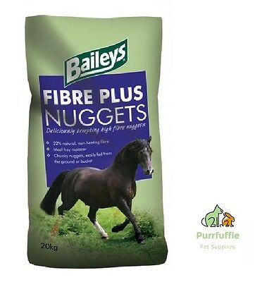 20KG BAILEYS FIBRE PLUS NUGGETS Horse Food Feed - Great For Boredom Breaker Toys
